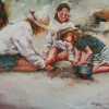 Bev Jozwiak - Sand Castle Beginnings, acrylic, $900