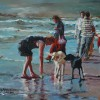 Bev Jozwiak - Typical Day at the Beach, acrylic, $400
