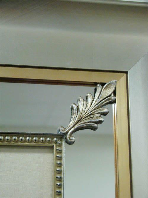 mirrored frame detail